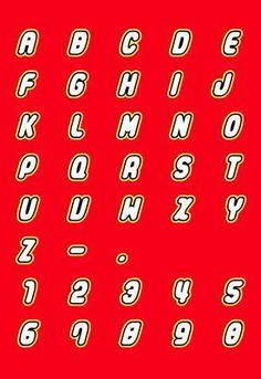 Alphabet in LEGO script font to make your decorations and invitations. - Alphabet in LEGO script font to make your decorations and invitations. Lego Ninjago, Ninjago Party, Lego Police, Lego Themed Party, Lego Birthday Party, 5th Birthday, Birthday Ideas, Lego Birthday Banner, Lego Letters