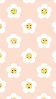 Hippie Wallpaper, Cute Pastel Wallpaper, Cute Patterns Wallpaper, Kawaii Wallpaper, Simple Wallpapers, Pretty Wallpapers, Cute Cartoon Wallpapers, Iphone Background Wallpaper, Aesthetic Iphone Wallpaper