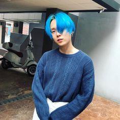 K Pop, Tripple H, Hyuna, E Dawn, Korean Couple, Pentagon, Blue Hair, Korean Singer, Wig Hairstyles