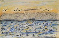 Île de Grand-Manan_Dark Harbour_Le Souffle du Dragon_775_pastels Rembrandt Dark Harbor, Little Island, Rembrandt, Pastels, Dragon, Painting, Art, Art Background, Painting Art
