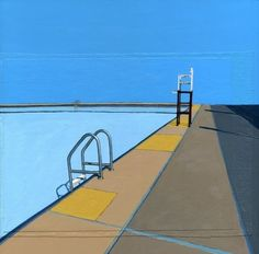 """""""Red Hook Pool Series (five)""""  by Leah Gibson    www.etsy.com"""