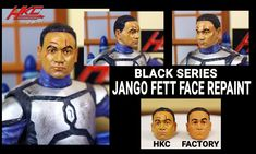 Next in the star wars black series repaint  list: Jango Fett! He was a commission for a customer. I took several references from the movie and some early Sideshow Collectibles statues for references on the scars and paint . After tons of skin tone shades were applied, Jango was ready to make his way in the Universe in style. Click the pic to go to my Facebook page and stay updated with my current projects!