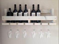 Bekijk de foto van steigermusthaves met als titel Steigerhouten wijnrek white wash en andere inspirerende plaatjes op Welke.nl.