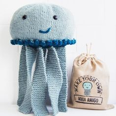 To take your mind off the election here's our latest giant knitting kit! Meet our first Aqua Amigo in honour of world oceans day 💙🌊💙🌊 Weighing in at almost 2kg and knitted in our Mythically Chunky Yarn it's a super fun knit inspired by one of our previous SYCs Sarah the Jellyfish! This is an Etsy exclusive, find the link in our profile 💙  #knitting #sincerelylouise #knitstagram #maker #yarn #wool #brixton #london #etsy #yarnporn #knittingaddict #makersgonnamake  #shareyourknits…