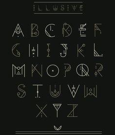 illusive font.