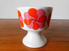 Vintage Mod ARABIA FINLAND Mamselli Pink Orange by MTippingAtelier