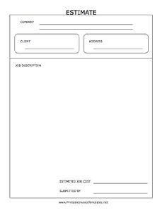 free construction quote template Free Contractor Estimate Form ...