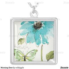 Morning Dew Square Pendant Necklace. Regalos, Gifts. #DiaDeLasMadres #MothersDay