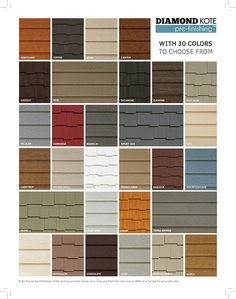 Siding Colours