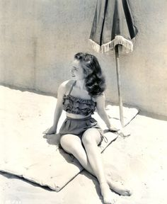 Ann Blyth 1940s vintage bathing suit