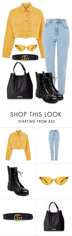 """""""Steph"""" by laurelbeauty on Polyvore featuring Topshop, Illesteva and Gucci"""