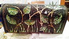 Mosaic Mailbox woodsy glen free shipping by MosaicMailbox on Etsy