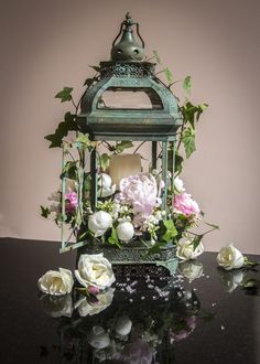 Some lanterns some cases covered with twigs. Or lanterns for bridal party instead of bouquets Lantern Centerpieces, Lanterns Decor, Floral Centerpieces, Wedding Centerpieces, Floral Arrangements, Wedding Decorations, Flower Arrangement, Centerpiece Ideas, Wedding Ideas
