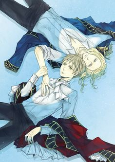Fan Art of England/France for fans of Hetalia: ~FrUk~.