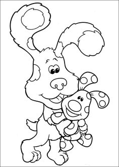 blues clues was holding coloring pages for kids printable blues clues coloring pages for kids