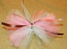 DIY Tutu Bow, girly, little girl, bows, crafts.