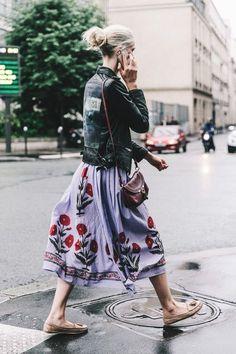 Street styles: Street Style Haute Couture Paris, July 2016 © D . - Street styles: Street Style Haute Couture Paris, July 2016 © D … - Fashion Mode, Fashion Week, Look Fashion, Daily Fashion, Street Fashion, Spring Fashion, Fashion Trends, Net Fashion, Skirt Fashion