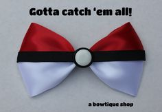 Pokemon hair bow! I want this O.O I would totally wear it to work