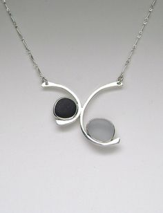 Sea Glass Jewelry  Sterling Black & Grey English by SignetureLine, $135.00
