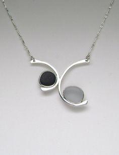 Sea Glass Jewelry  Sterling Black & Grey English by SignetureLine