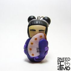 I Made This Kokeshi Doll Out Of Polymer Clay. It Was My Very First One!   Bored Panda