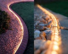 stenlagd rabatt 23 wonderful DIY ideas to decorate your garden - Guide Astuces 23 merveilleuses ides DIY pour dcorer votre jardin A light cord for a more beautiful garden path. 23 wonderful DIY ideas to decorate your garden Garden Guide, Garden Paths, Garden Ideas, Garden Crafts, Garden Projects, Easy Garden, Diy Projects, Outdoor Landscaping, Front Yard Landscaping