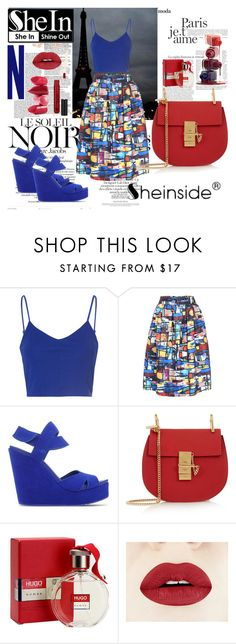 """""""SheIn 6"""" by eminica ❤ liked on Polyvore featuring Glamorous, Marc Jacobs, Pedro García, Chloé, HUGO, Rossetto and Anastasia Beverly Hills"""