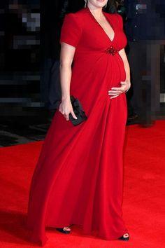 robe de soirée pour la femme enceinte longueur au sol en crêpe de ... http://yesidomariage.com - Conseils sur le blog de mariage