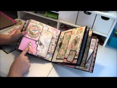 Graphic 45 Botanical Tea & Pion Nature Garden 8x8 Mini Album - YouTube