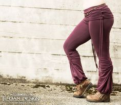 ADINATA YOGA PANTS - Organic Athletic Hippie Boho Sports Trousers Fairy Pixie Faery - Plum Purple by TimjanDesign on Etsy https://www.etsy.com/listing/165254309/adinata-yoga-pants-organic-athletic