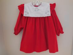 Size 2T3T  Vintage Feltman Toddler Girl embroidered by LittleMarin,