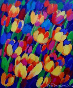 ArtGalery ° PERSONALART.PL tytuł/title: Tulips for happyness author: Beata Murawska personalart.pl/Beata-Murawska