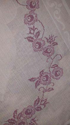 Cross Stitch Designs, Cross Stitch Patterns, Cross Stitch Rose, Prayer Rug, Blackwork, Needlework, Bohemian Rug, Flowers, Embroidered Towels