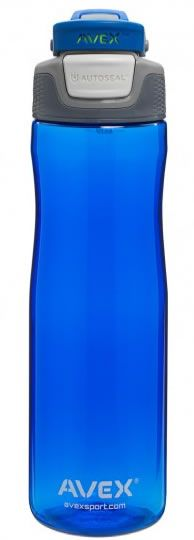 Review of the AVEX Brazos Water Bottle with an autoseal top ensuring no spillage.