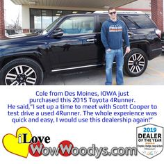 Woody's Automotive Group offers a large selection of new and used vehicles for sale in Chillicothe, near Kansas City, MO. #wowwoodys #carshopping #toyota4runner