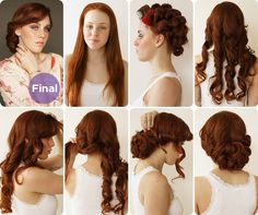 Hair & makeup team mimi & taylor show us how to get a sweet 1930s-inspired up-do, ideal for a vintage-inspired wedding.