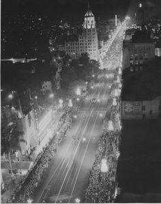 1931 Christmas Santa Claus Lane Parade in Hollywood