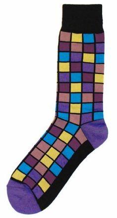 Foot Traffic Black-Purple-Blue Mosaic Squares Mens Dress Sock Foot Traffic. $9.00. Foot Traffic Brand. Mosaic Pattern