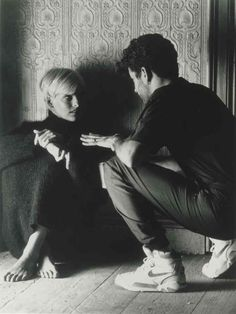 George Michael and Linda Evangelista speak on the set of the Freedom 90 video