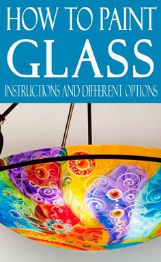 Learn something NEW! Learn how to paint glass, whether it is personal goblets, or beautiful chandelier learn how to get it done right! glass bottle crafts 3 Ways to Hand-Paint Glass - Painted Furniture Ideas Stained Glass Paint, Stained Glass Crafts, How To Paint Glass, Painted Glass Windows, Broken Glass Art, Sea Glass Art, Fused Glass, Broken Glass Crafts, Mosaic Glass