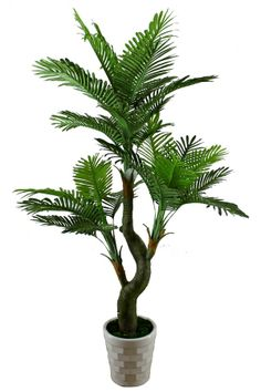 palm tree plant | Yellow-Palm-Areca-Palm-Fake-Palm-Tree-Plastic-Plant-Artificial-Plant ...
