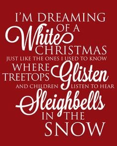 JUST IN TIME FOR CHRISTMAS! Christmas Printable Art with Christmas Carol Quote I'm Dreaming of A White Christmas