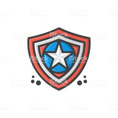 shield star icon symbol vector illustration royalty-free shield star icon symbol vector illustration stock vector art & more images of superhero