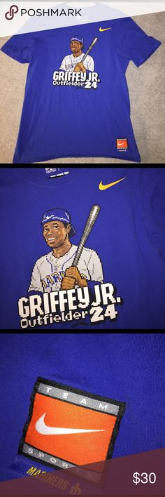 537a843e85 MLB Apparel · Ken Griffey Jr Nike T Shirt size Medium RARE Ken Griffey Jr  Nike T Shirt size