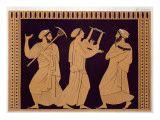 Ancient Greek Theatre Scene after an Antique Vase