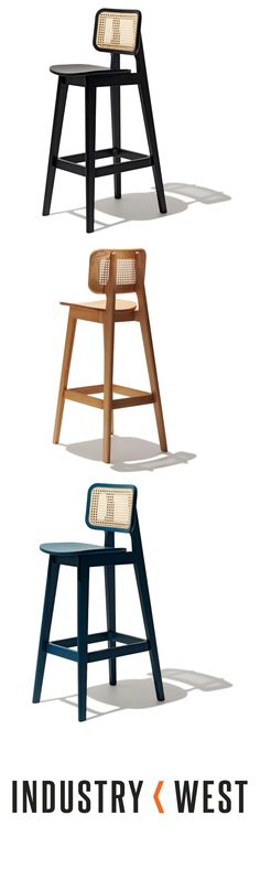 Domino Bar Stool is part of food_drink - food_drink Kitchen Stools, Bar Stools, Dream Furniture, Furniture Design, Wood Bench With Back, Wood Bars, Dining Chair, Dining Room, Solid Wood