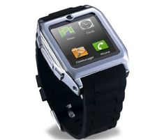 new touch Screen Smartwatch Bluetooth Watch Mobile Phone MP3 Video Camera GSM FM bluetooth connect Android phones smart watch Black *** Details can be found by clicking on the image.