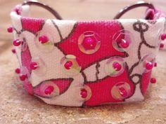 Handmade OOAK beaded bracelet in Salmon by gr8byz on Etsy, $23.00