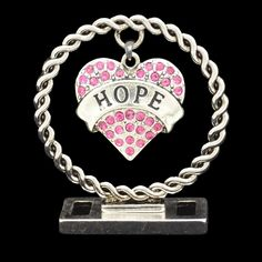 Pink Hope Heart Desk Decor - Things You Cherish