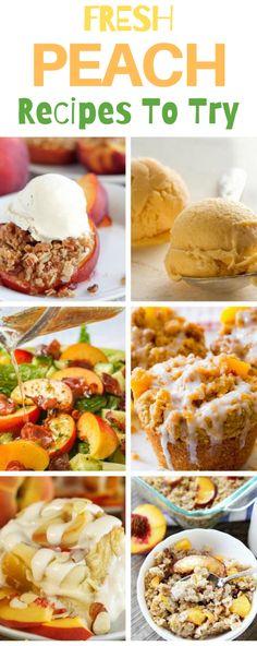 peach recipes, recipes using peaches, fresh peaches in recipes, easy peach recipes, Peach desserts, peach cobbler, peach oatmeal, peach cookies, peach muffins, grilling peaches, peach ice cream, fresh peaches Most Delicious Recipe, Delicious Desserts, Yummy Food, Fun Desserts, Breakfast Pastries, Breakfast Recipes, Dessert Recipes, 12 Recipe, Recipe For Mom